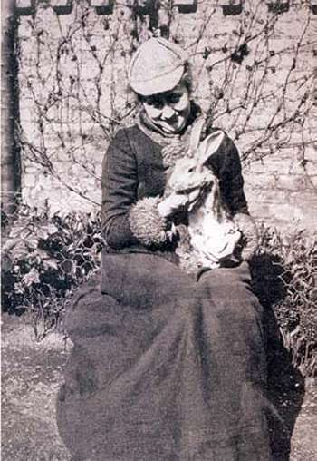 Беатрик Поттер и ее ручной кролик