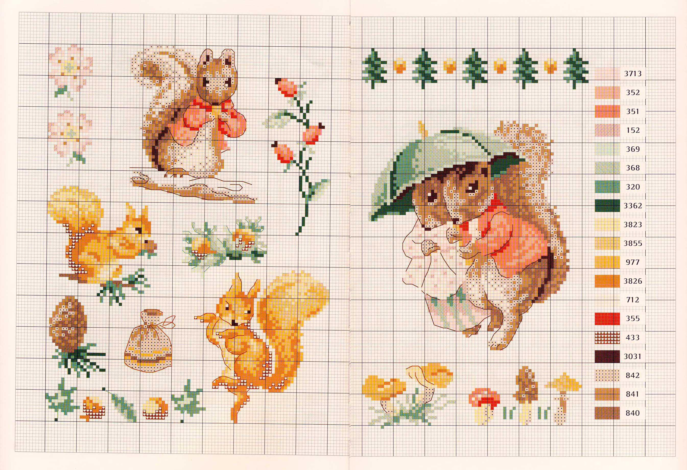 Схемы вышивки кролика питера