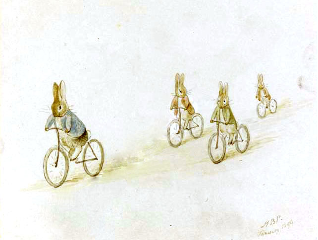 Кролик Питер, Бенджамин Банни и друзья на велосипедах