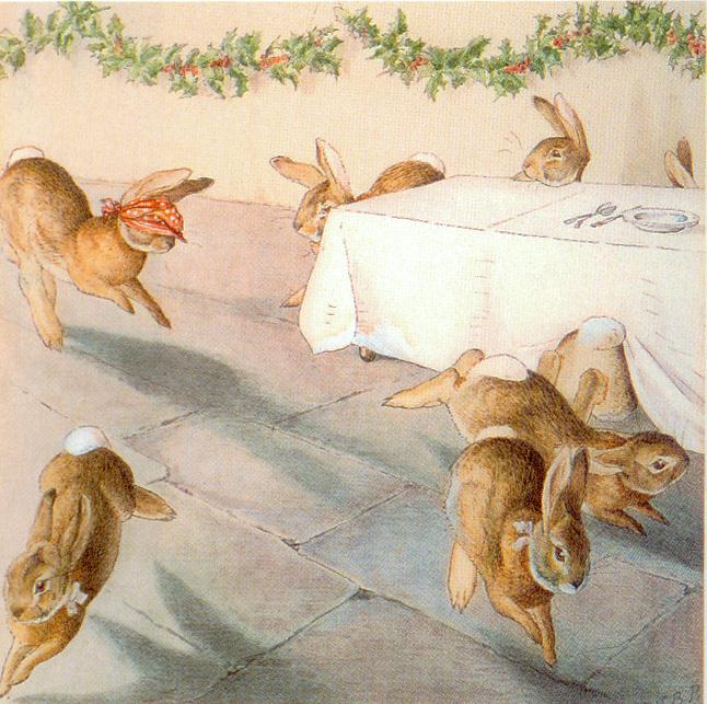 кролики открытка